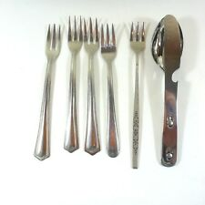 Interconnecting Set Fork Spoon Knife Campbells Soup Flatware 5 Extra Forks Camp