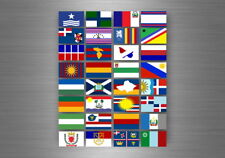 Flag sheet sticker labels country subdivisions province  dominican republic