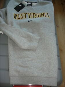 NWT NIKE WV MOUNTAINEER GRAY SWEATSHIRT SIZE XL OFFICIAL LICENSED