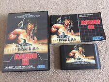 RAMBO III 3 - Sega Mega Drive - UK PAL - Boxed & Complete