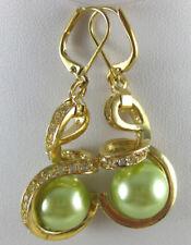 Ladies New Style Earring Gold plate Sea Shell Pearl Earrings Women Party Jewelry