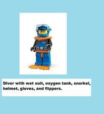 LEGO 8683 Sealed SERIES 1 DEEP SEA OCEAN DIVER SAILOR SHIP Flipper Snorkel Water