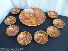 Yvon Roy Service a dessert Complet Compotier Coupes à fruits Céramique Vintage