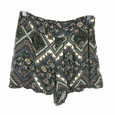 American Eagle Outfitters Size Medium Blue Floral Elastic Waist Flowy Shorts