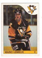 1985-86 O-Pee-Chee Mario Lemieux Rookie Reprint Card Nrmt to Mint