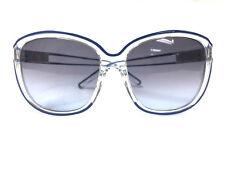 d47a0f2a12d5 CHLOE CL623 S Clear Royal-Blue Trim Frame Sunglasses w Blue-