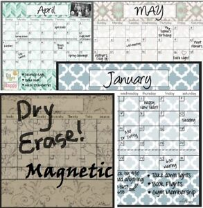 Dry Erase Magnetic Calendar ALA BOARD Stylish for Home Fridge Office School New