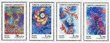 TURKEY 2011, OFFICIAL STAMPS WITH THEME OF MARBLING - 2, MNH