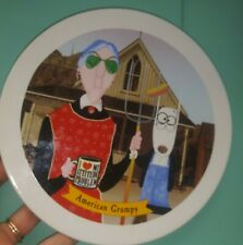 Guc Hallmark Maxine and dog American Gothic collector Grumpy plate novelty humor