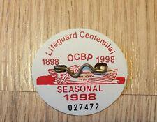 Ocean City, NJ 1998 Beachtag Lifeguard Centenial Seasonal