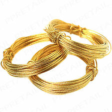 10m+ PICTURE HANGING WIRE BRASS Long Cable/Cord Mirror/Photo Wall Hanger Set