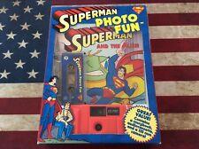 1998 DC Comics Inchworm Press Superman Photo Fun Camera Tape Book Set NEW