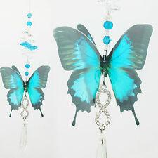 BUTTERFLY CRYSTAL SUNCATCHER- Ulysses icicle infinity pendant gift feng shui