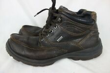Mens ECCO GORE-TEX Waterproof Leather Lace-up HIKING BOOTS Brown sz 43 9/9.5