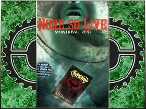 CRYPTOPSY - None So Live TAPE NEU-MC Technical Death Metal, DEATH,GORGUTS,ORIGIN