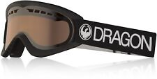 DRAGON DX Snow Goggles - BLACK / LUMALENS SILVER ION - NWT