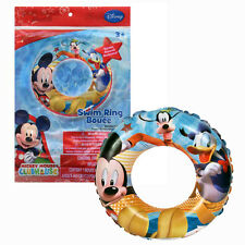 """Disney Mickey Mouse Kids Inflatable 20"""" Swim Ring Tube Pool Float toy Ages3+ NIP"""