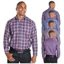 Strukturierte Maschinenwäsche Klassische Herrenhemden im Button-Down-Kragen-Stil aus Baumwolle