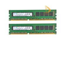 Samsung 2x 8GB 2RX8 PC3-10600E DDR3-1333Mhz 1.2V Desktop DIMM de memoria RAM Kit de Código error-correcting