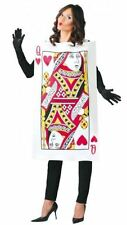 QUEEN OF HEARTS PLAYING CARD Fancy Dress Alice in Wonderland Casino Outfit 80780
