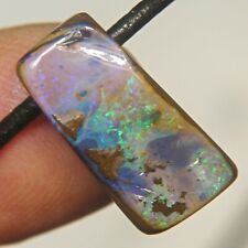 QUEENSLAND BOULDER OPAL 24.4c BEAD AUSTRALIA SIDE DRILLED SPLIT PENDANT OCA12748