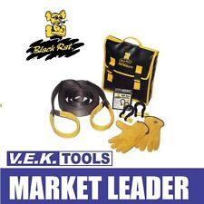 BLACK RAT TOOLS 4WD 4X4 CAR NYLON SNATCH-EM SNATCH STRAP RECOVERY KIT-SP