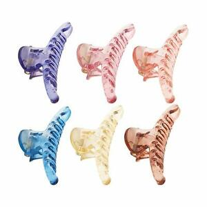 Hair Crutches Butterfly Claw Clip Pin for Women Girls (Pack of 6)