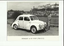 Original RENAULT 4 CV 1959 (750c.c.) Photo de presse-Brochure liés