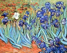 Wall Decor Vincent Van Gogh Irises Flower Floral Garden Fine Art Poster (16x20)
