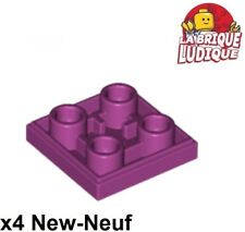 Lego - 4x Tile Modified 2x2 Inverted Inverted Plate Smooth Magenta 11203 New