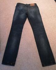 Straight Leg size W30 W32 Grey ERMANNO SCERVINO Men/'s Distressed Jeans
