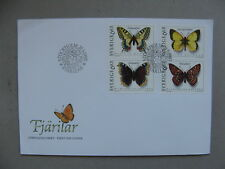 SWEDEN, cover FDC 1993, insect butterfly