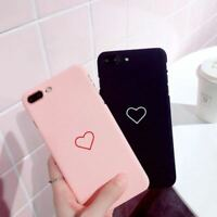 Luxury Cute Slim Hearts ShockProof PC Case Cover For Apple iPhone X 8 7 6s Plus