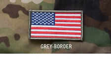 Morale Patch Milspec Monkey MSM - AMERICAN USA US FLAG Full COLOR - GREY Border