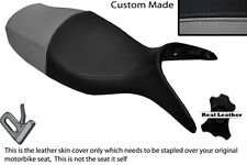 BLACK & GREY CUSTOM FITS BMW R 1100 S 98-05 DUAL LEATHER SEAT COVER ONLY