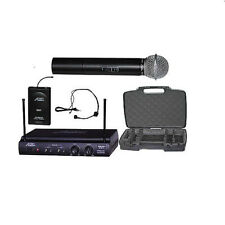 Audio2000'S AWM6032UX Handheld & Headset Wireless Microphone System  -MR