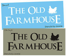 STENCIL Country Family Old Farmhouse Chicken Rooster Primitive Ktichen Art Signs