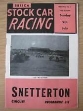 Snetterton 5th July 1970 BriSCA F1 stock car programme Promotasport