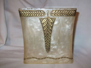 VTG MARBLED LUCITE ACRYLIC TISSUE BOX COVER HEAVY