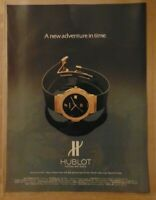 Vintage 1980's HUBLOT Luxury Swiss Wristwatch Watch 1984 Print Advertisement