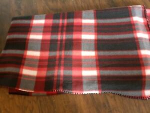 50x58 Baby Check fleece Lghtweight Blanket