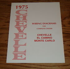 1975 Chevrolet Chevelle Wiring Diagram Manual for Complete Chassis 75 Chevy