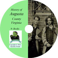 AUGUSTA County Virginia VA - History & Genealogy - Staunton - 9 Books CD DVD