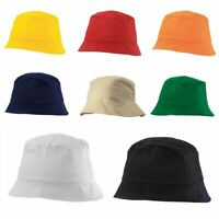 100% Cotton Adults Bucket Hat - Summer Fishing Fisher Beach Festival Sun Cap