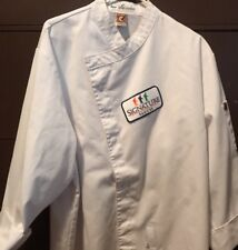 Chef Designs Brand 3/4 Long Sleeve Chef Coat Size L-Unisex with Logo