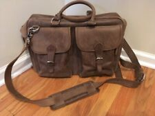 Full-Grain Distressed Cowhide Leather Briefcase
