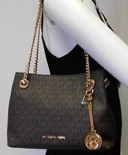 """Michael Kors Brown Jet Set Chain Shoulder Strap Hobo Shoulder Bag Handbag """"NWT"""""""