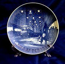 1925 BING GRONDAHL COPENHAGEN PIATTO DI FAMIGLIA intorno a Albero di Natale