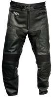 Motorrad Lederhose STRIKER Stiefelhose Motorradhose Schwarz Gr 50 52 54 56 58 60