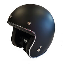 Viper Rs-05 Slim Fit Open Face Scooter Motorcycle Mod Retro Helmet - Matt Black S 130